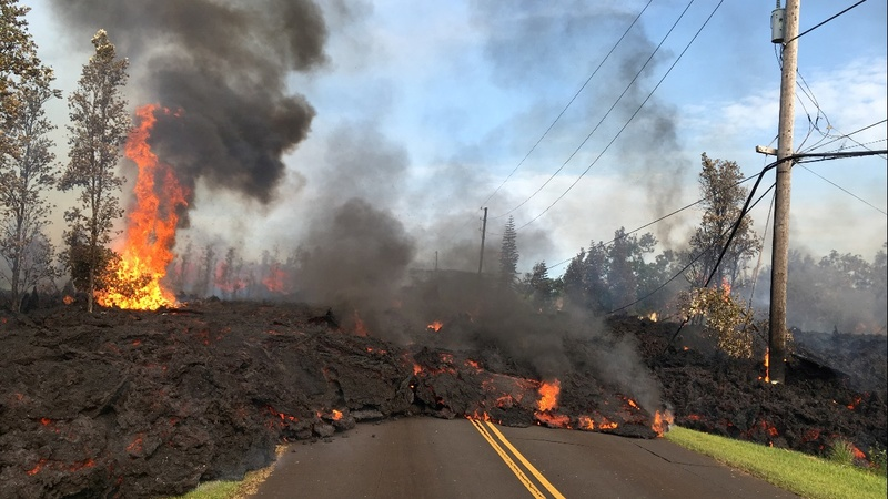 Hawaii evacuations continue as volcano erupts