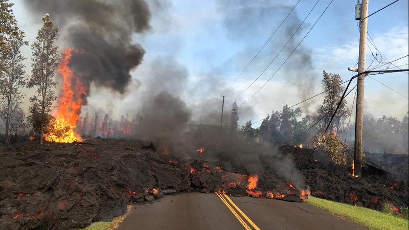 Hawaii evacuations continue as volcano erupts