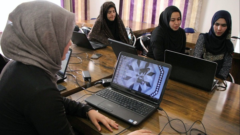 Afghan girls code game to 'fight against opium'