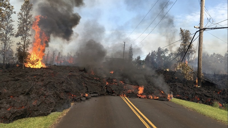 Lava scattered across Hawaii's Big Island