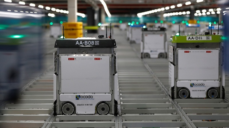 Ocado's robot army courts global food retailers
