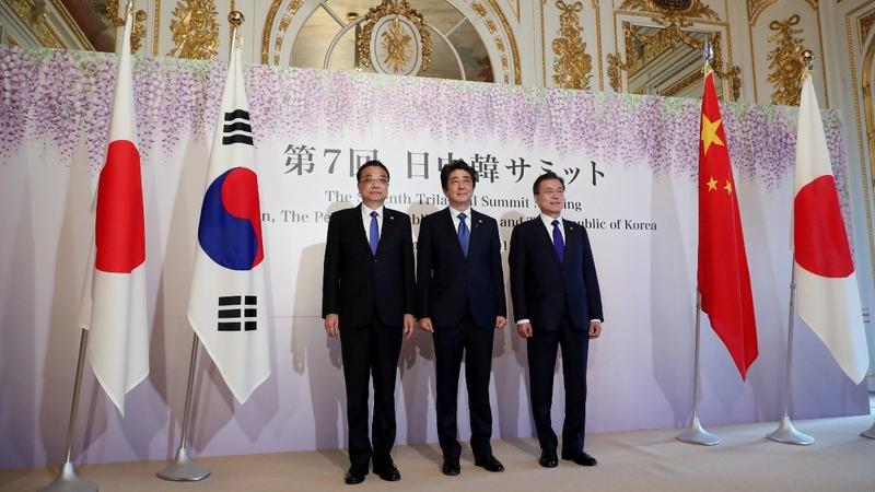 Focus on North Korea at Tokyo's three-way summit