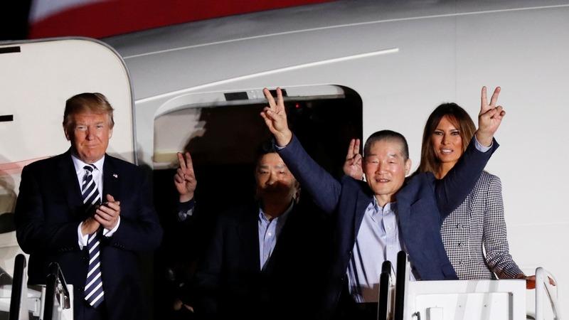 Trump welcomes prisoners released by North Korea