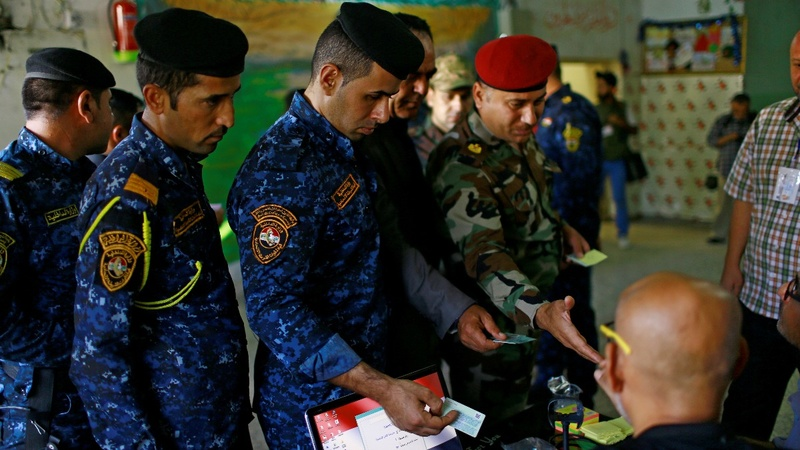 Iraqis vote in first election since I.S.