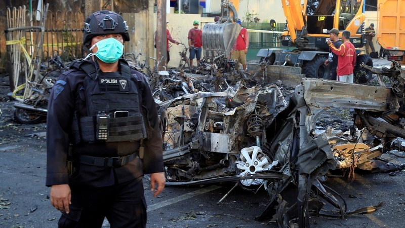 A family of bombers targets Indonesian churches