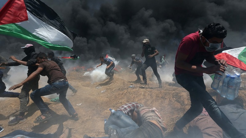 Scores killed in Gaza protest as U.S. moves embassy