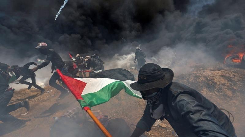 Gazans bury their dead on 'Nakba day'