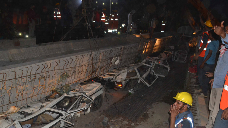 At least 16 dead in India flyover collapse