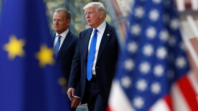 EU president lashes out at Trump over Iran, trade
