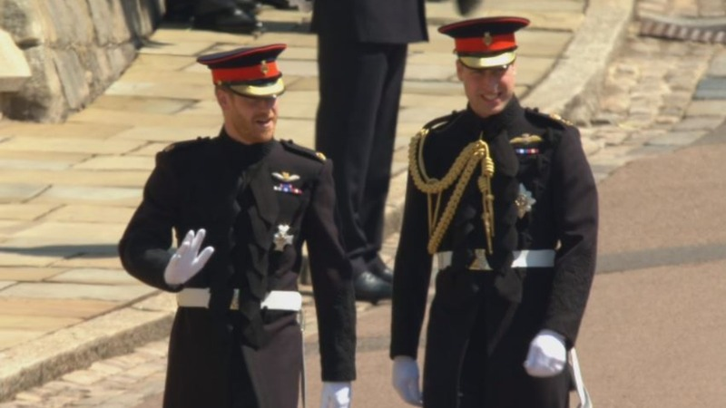 Prince Harry arrives for his big day