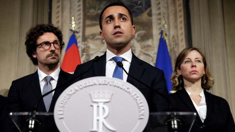 Italy's anti-system parties confirm unusual coalition