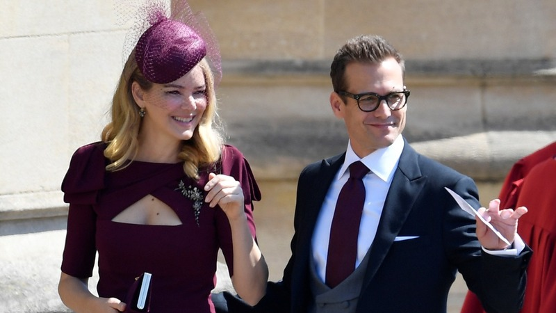 Cast of Suits arrive at royal wedding
