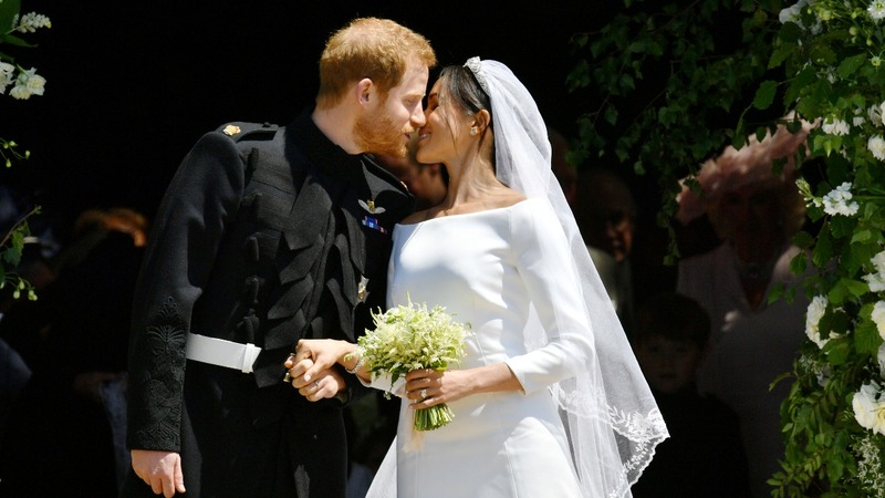 Harry and Meghan seal marriage with a kiss