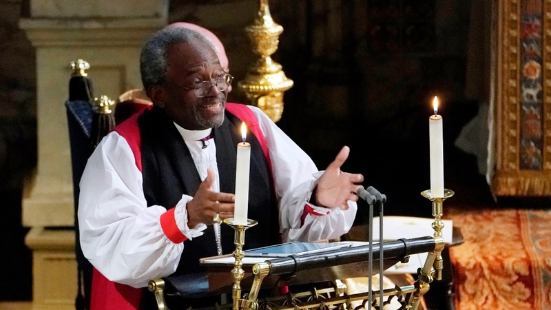 Bishop Michael Curry talks love at royal wedding