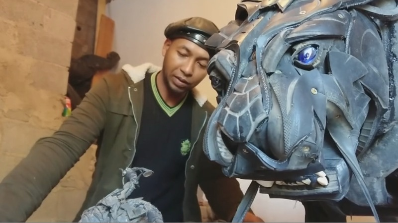 INSIGHT: Artist breathes new life into old tyres