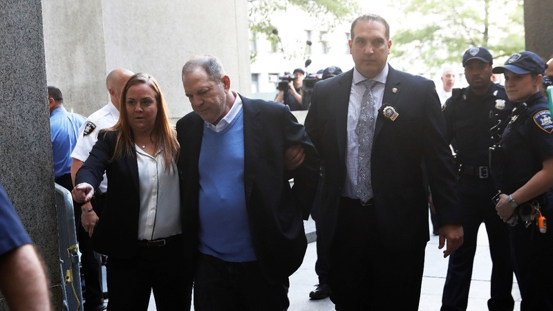 Weinstein charged with rape, free on $1 Mln bail