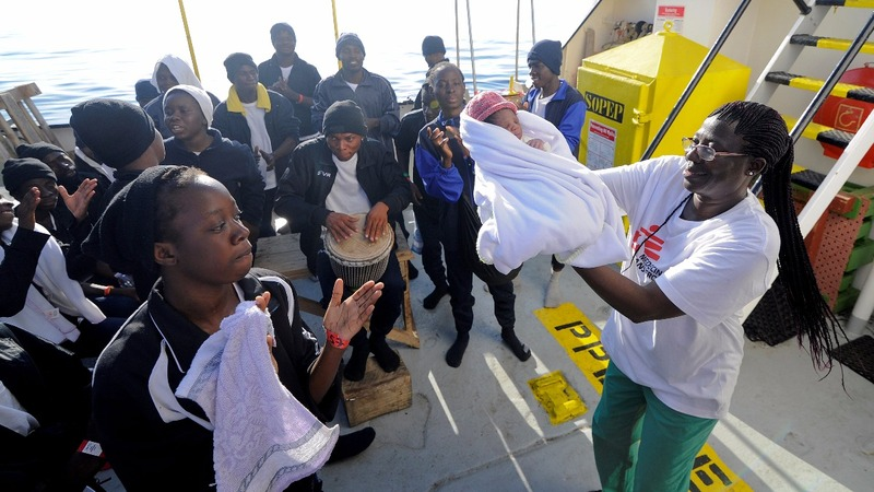 """""""Miracle"""" born on a migrant ship"""