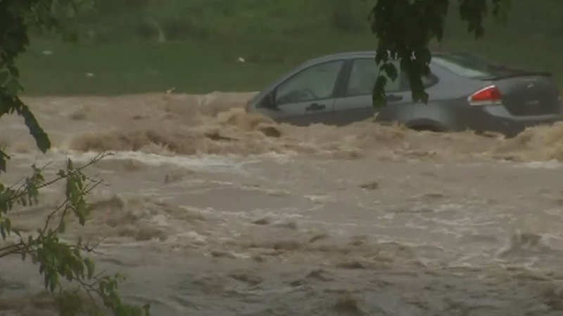 Severe flooding strikes Balitmore suburb