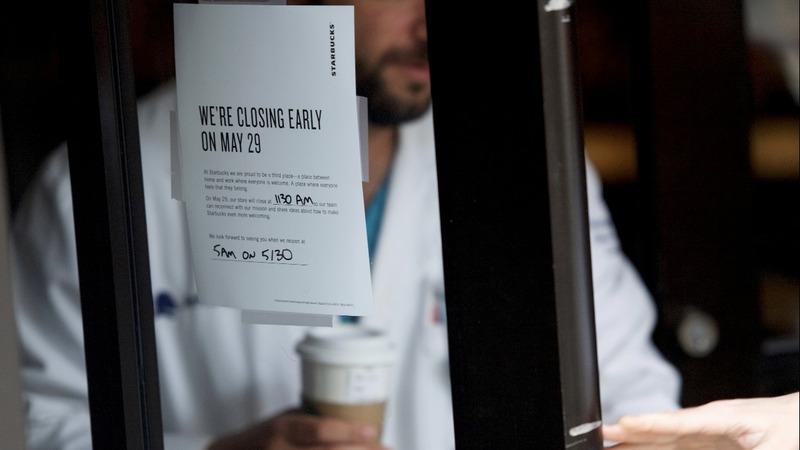 VERBATIM: Starbucks founder defends decision to close stores