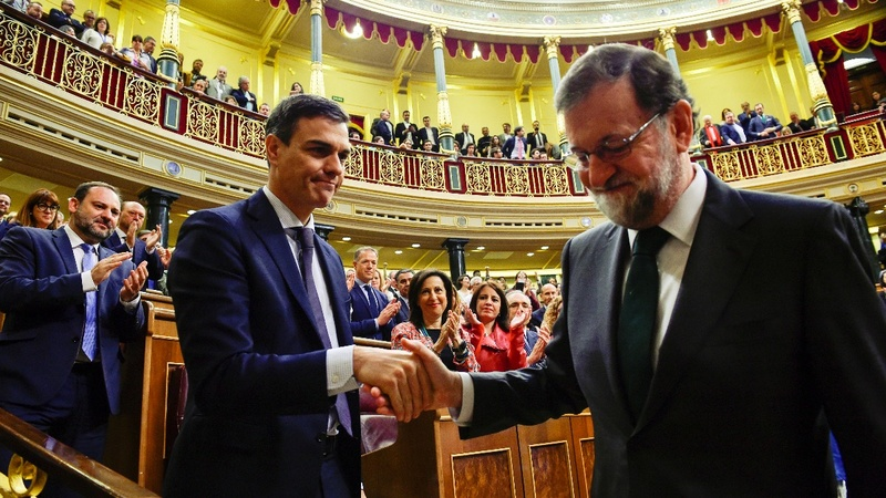 Spain has a new PM, as a tarnished Rajoy departs
