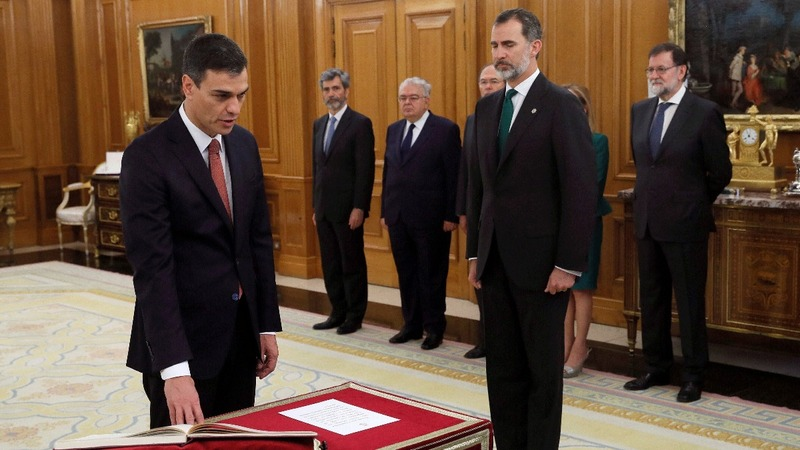 Spain's new PM sworn in amid corruption scandal
