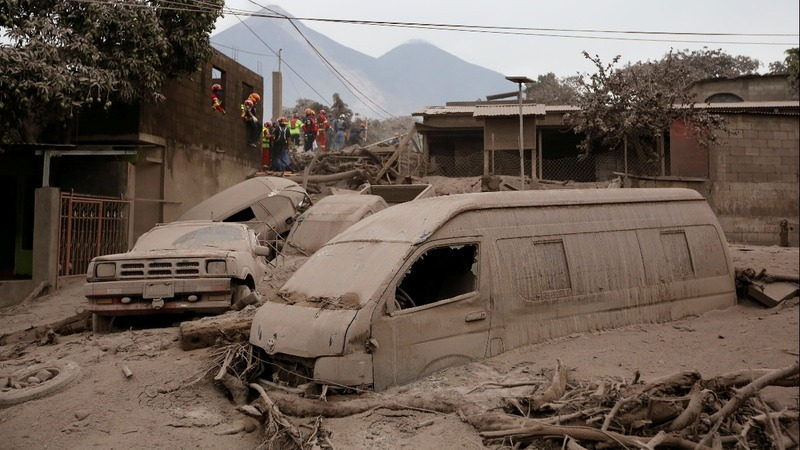 Over 60 dead in Guatemala volcano eruption