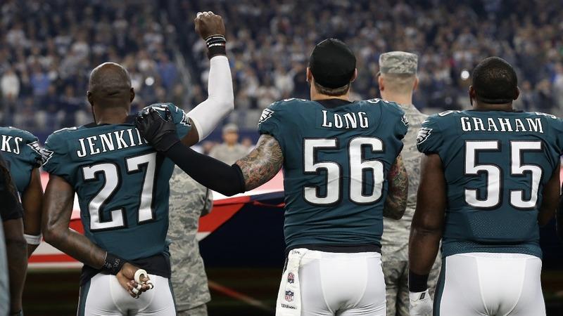 Trump keeps up blitz on NFL's Eagles