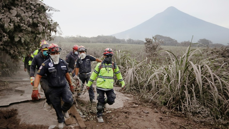 Search resumes for Guatemala volcano victims