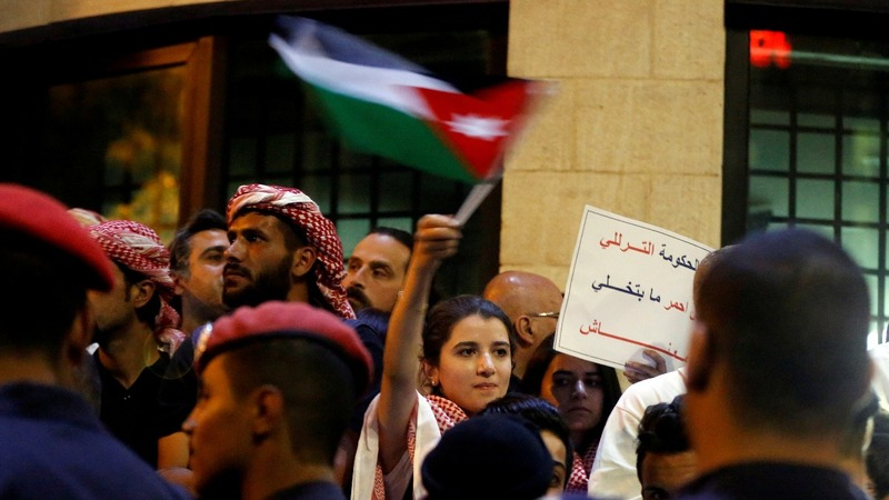 Young Jordanians get first taste of protest