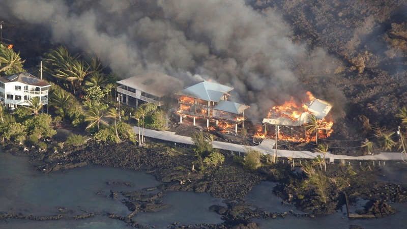Lava from Hawaii volcano destroys more homes
