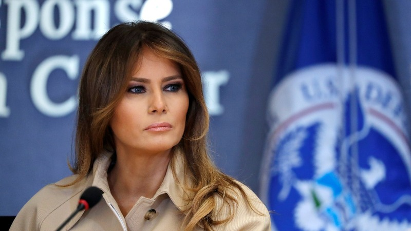 After weeks-long absence, Melania Trump reappears