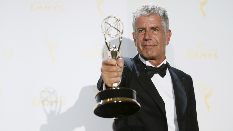 Fans grieve for Bourdain at his ex-restaurant