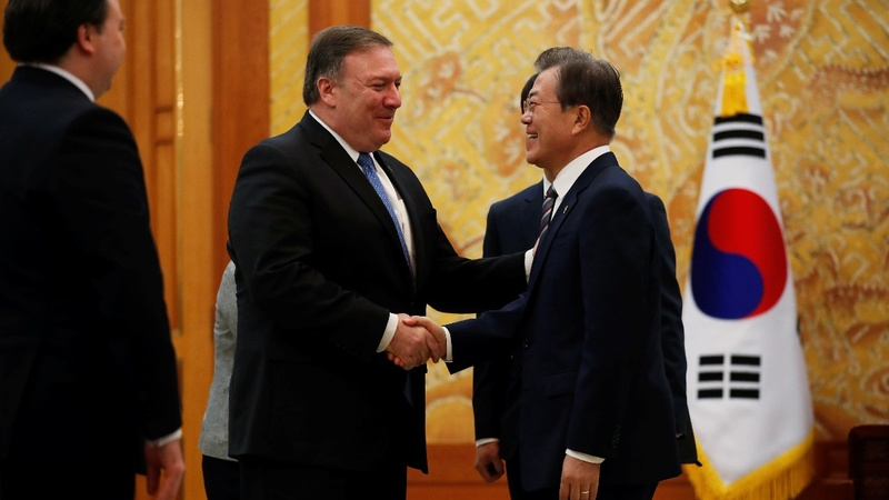 Pompeo says sanctions stay on North Korea for now