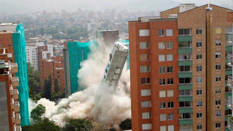 INSIGHT: Colombian apartment block knocked down