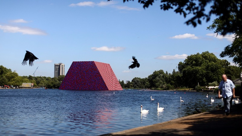Christo's latest outdoor artwork floats in London