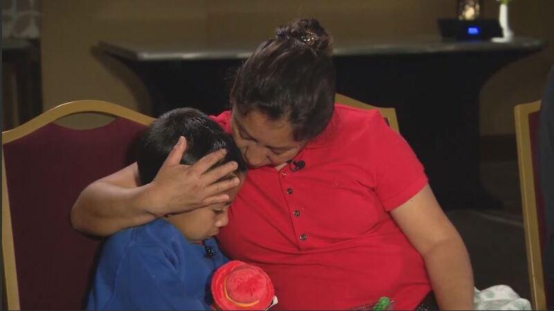 Guatemalan asylum seeker reunited with son