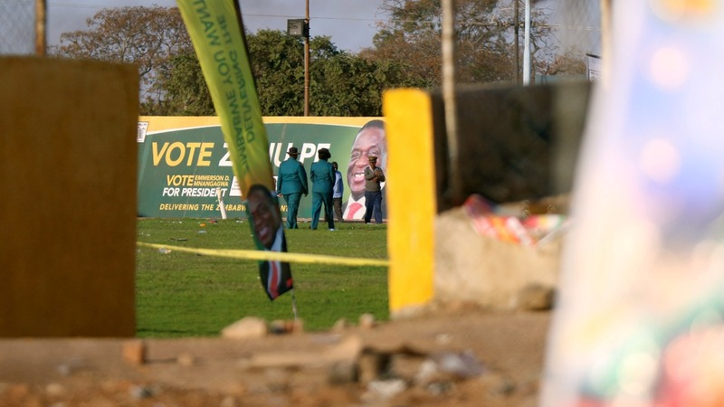 Zimbabwean president escapes explosion at rally