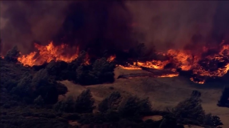 Raging California wildfires force evacuations