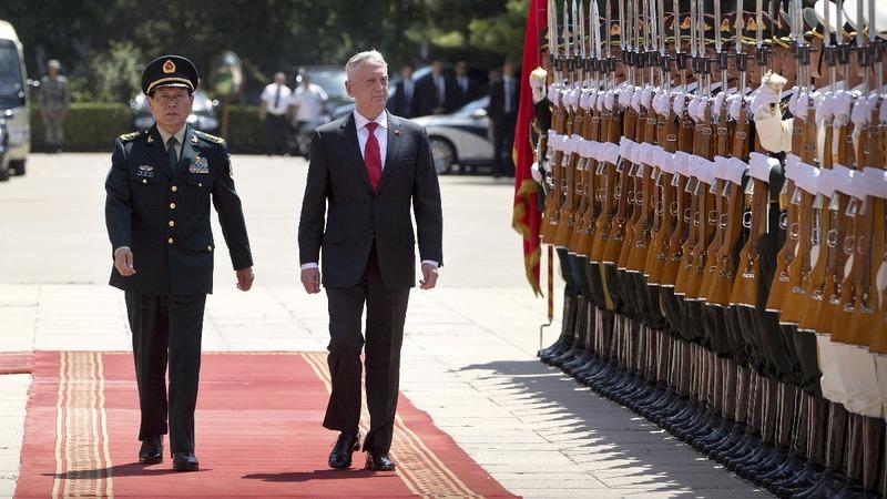 Mattis strikes a positive tone in China