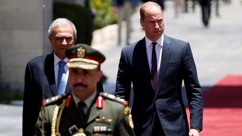 Prince William in West Bank on first royal visit