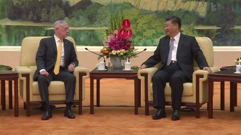 Xi tells Mattis China won't give up 'one inch'