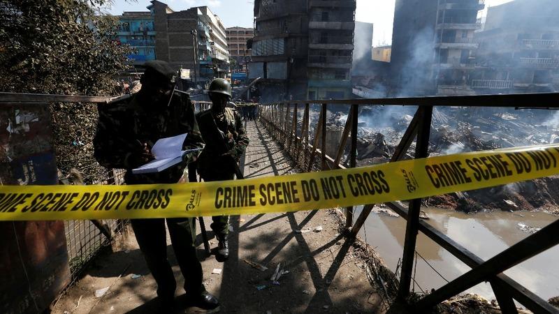Deadly fire sweeps through Kenyan market