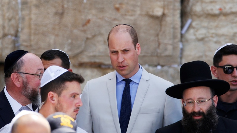 INSIGHT: Prince William prays at the Western Wall