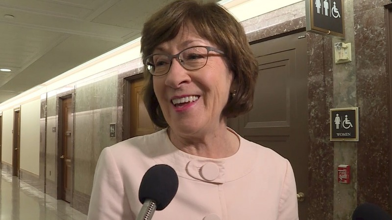 Collins won't back anti-abortion Supreme Court nominee