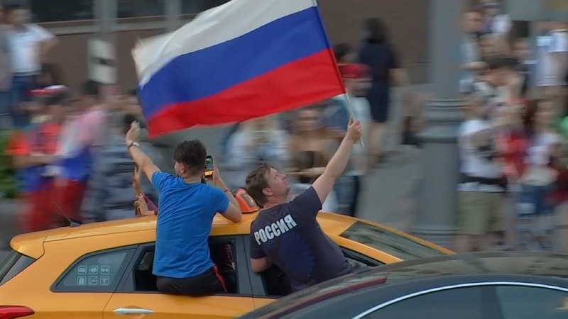 INSIGHT: Russian fans celebrate World Cup win