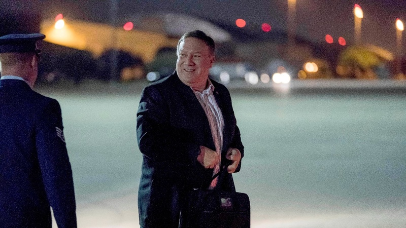 U.S. changes tone on North Korea as Pompeo visits