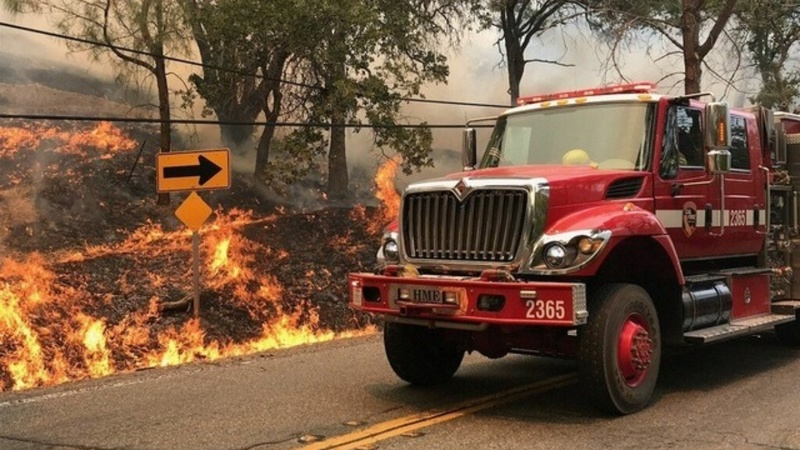 Firefighters make progress on California wildfire