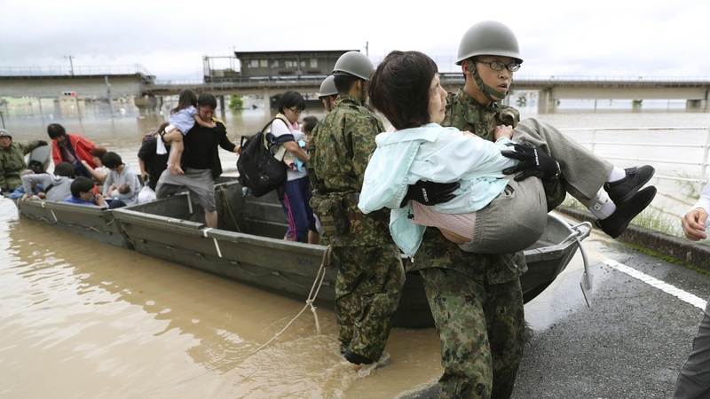 'Historic' rain kills at least 49 in Japan