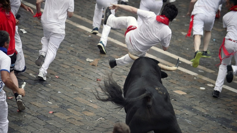 INSIGHT: The opening day of Spain's bull runs