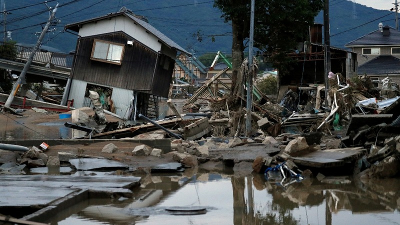 Unprecedented rains in Japan kill up to 69 people